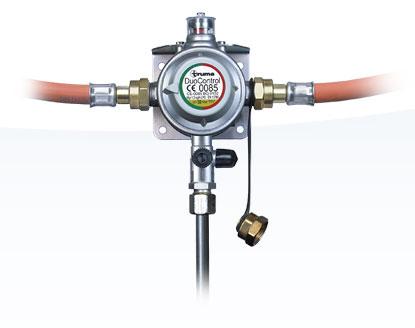 Regolatore di pressione e scambiatore delle bombole Truma Duocontrol